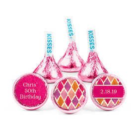 Personalized Bonnie Marcus Birthday Wonderful Watercolors Hershey's Kisses (50 pack)
