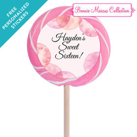 """Bonnie Marcus Collection Personalized 3"""" Swirly Pop - Blithe Spirit Birthday (12 Pack)"""