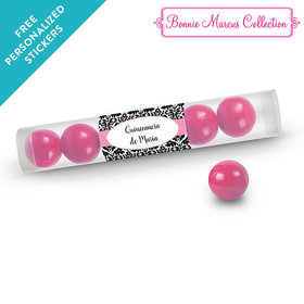 Bonnie Marcus Collection Personalized Gumball Tube Quinceañera (12 Pack)