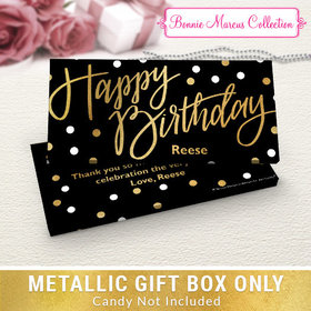 Deluxe Personalized Birthday Polka Dots Candy Bar Favor Box