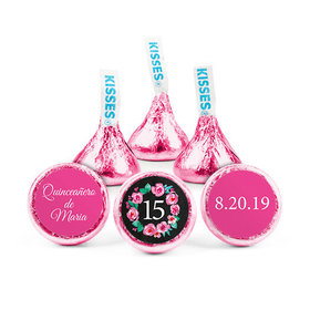 Personalized Bonnie Marcus Birthday Quinceanera Wreath Hershey's Kisses (50 pack)