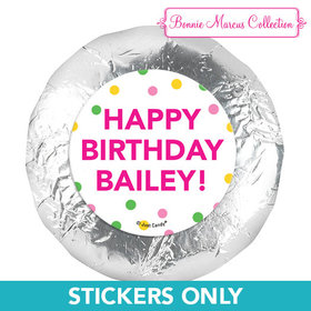 """Personalized Bonnie Marcus Tropical Birthday 1.25"""" Stickers (48 Stickers)"""