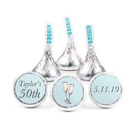 Personalized Bonnie Marcus Birthday Blue Bubbly Party Hershey's Kisses (50 pack)
