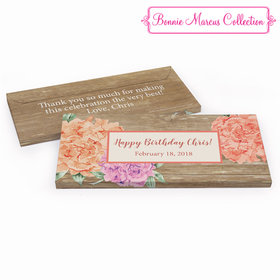 Deluxe Personalized Birthday Blooming Joy Hershey's Chocolate Bar in Gift Box