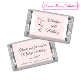 Personalized Bonnie Marcus Birthday Pink Birthday Party Bubbly Hershey's Miniatures