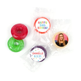 Personalized Bonnie Marcus Birthday Colorful Candles LifeSavers 5 Flavor Hard Candy