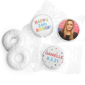 Personalized Bonnie Marcus Birthday Colorful Candles Life Savers Mints