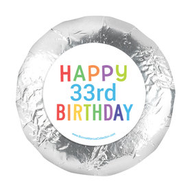 """Personalized Bonnie Marcus Birthday Colorful Candles 1.25"""" Sticker (48 Stickers)"""