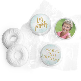 Personalized Bonnie Marcus Birthday Champagne Party Life Savers Mints