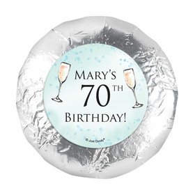 "Personalized Birthday Champagne Party 1.25"" Stickers (48 Stickers)"
