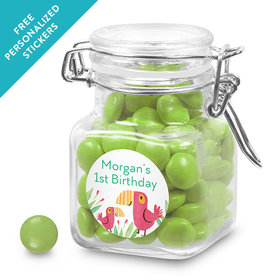 Bonnie Marcus Collection Personalized Latch Jar Safari Snuggles (12 Pack)