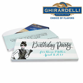 Deluxe Personalized Birthday Vogue Ghirardelli Chocolate Bar in Gift Box