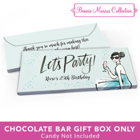 Deluxe Personalized Birthday Sunny Soiree Candy Bar Favor Box