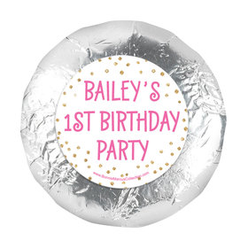 "Personalized Golden One First Birthday 1.25"" Stickers (48 Stickers)"