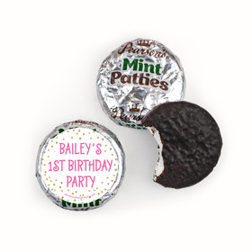 Personalized First Birthday Golden One Pearson's Mint Patties