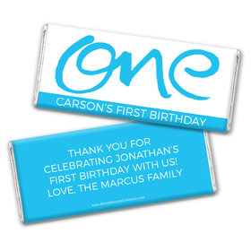 Bonnie Marcus Personalized 1st Birthday Doodle One Chocolate Bar Wrappers