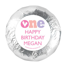 """Personalized Adorable One First Birthday 1.25"""" Stickers (48 Stickers)"""