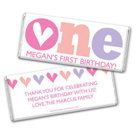Bonnie Marcus Personalized 1st Birthday Adorable One Chocolate Bar Wrappers