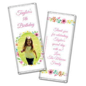 Personalized Bonnie Marcus Birthday Blossom Photo Chocolate Bars