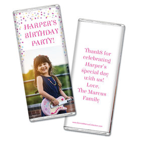 Personalized Bonnie Marcus Birthday Sprinkling Confetti Photo Chocolate Bars