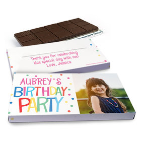 Deluxe Personalized Birthday Sweet Celebration Chocolate Bar in Gift Box (3oz Bar)