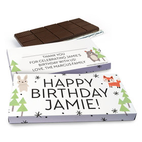 Deluxe Personalized Birthday Scouting Pals Chocolate Bar in Gift Box (3oz Bar)
