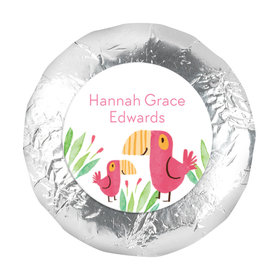 "Bonnie Marcus Collection Birth Announcement Girl Baby Announcements 1.25"" Stickers (48 Stickers)"