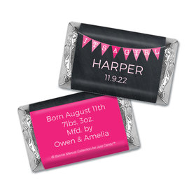 Bonnie Marcus Collection Personalized Hershey's Miniatures Wrappers It's a Girl Banner Birth Announcement