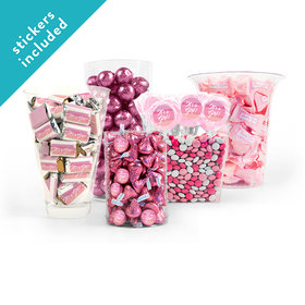 It's a Girl Watercolor Pink Candy Buffet