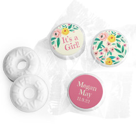 Bonnie Marcus Collection Personalized LIFE SAVERS Mints It's a Girl Flowers Birth Announcement