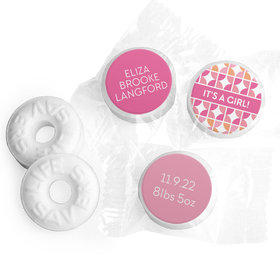 Bonnie Marcus Collection Personalized LIFE SAVERS Mints It's a Girl Hearts Birth Announcement