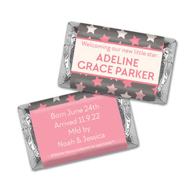 Bonnie Marcus Collection Personalized Hershey's Miniatures Wrappers Star Girl Birth Announcement