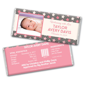 Bonnie Marcus Collection Personalized Chocolate Bar Star Girl Birth Announcement