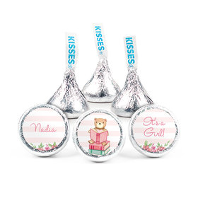 Personalized Girl Birth Announcement Story Time Hershey's Kisses (50 pack)