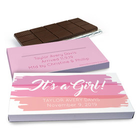 Deluxe Personalized Watercolor Chocolate Bar in Gift Box (3oz Bar)