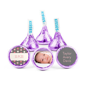 Personalized Girl Birth Announcement Star Hershey's Kisses (50 pack)