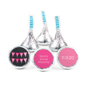 Personalized Girl Birth Announcement Banner Hershey's Kisses (50 pack)
