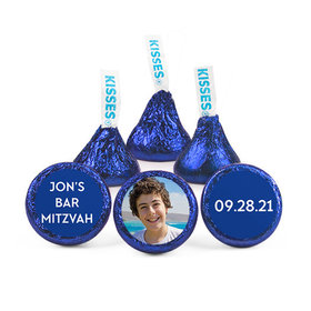 Personalized Bonnie Marcus Bar Mitzvah Traditional Star Hershey's Kisses (50 pack)