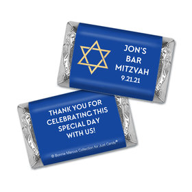 Personalized Bonnie Marcus Bar Mitzvah Traditional Star Hershey's Miniatures