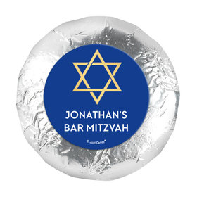 "Personalized Bonnie Marcus Bar Mitzvah Traditional Star 1.25"" Sticker (48 Stickers)"