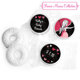 Bonnie Marcus Collection Sprinkling Pink Baby Shower Stickers - Custom Life Savers