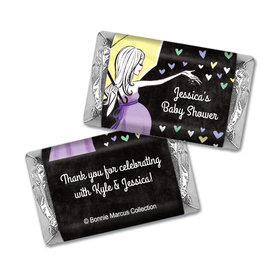 Bonnie Marcus Collection Personalized Mini Candy Bar Wrapper Baby Shower Candy Sprinkling Pink