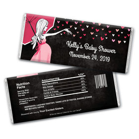 Bonnie Marcus Collection Personalized Chocolate Bar Wrappers Personalized Baby Shower Candy Sprinkling Pink