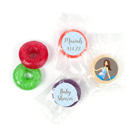Bonnie Marcus Baby Bow Baby Shower Stickers - Custom LifeSavers 5 Flavor Hard Candy (300 Pack)