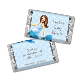Bonnie Marcus Collection Personalized Mini Candy Bar Wrapper Baby Shower Favors Baby Bow