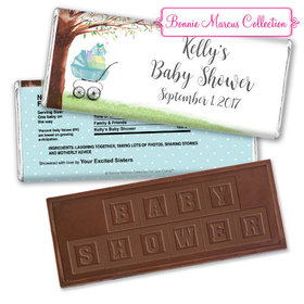 Bonnie Marcus Collection Personalized Embossed Chocolate Bar Baby Shower Favors Rockabye Baby