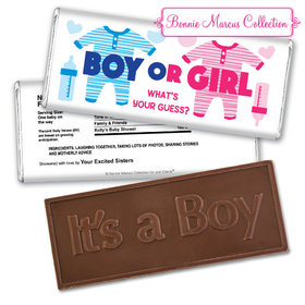 Personalized Bonnie Marcus Gender Reveal Onesies Embossed It's a Boy Chocolate Bar