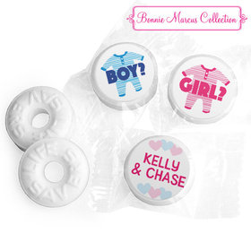 Personalized Bonnie Marcus Gender Reveal Onesies Life Savers Mints