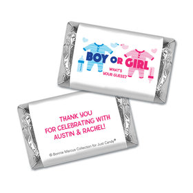 Personalized Bonnie Marcus Gender Reveal Onesies Mini Wrappers Only