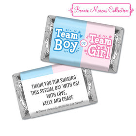 Personalized Bonnie Marcus Gender Reveal Boy or Girl Hershey's Miniatures